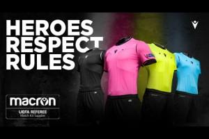 MACRON - новый официальный поставщик формы для арбитров УЕФА